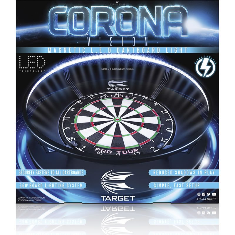 Corona Vision Light Dartboard LED system