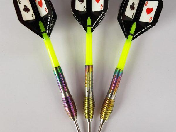 Unicorn Neon darts set up