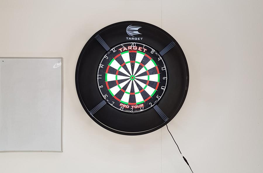 target corona darts light oche view